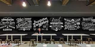 cafe wall art design