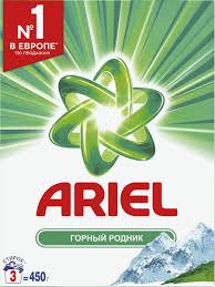"""<b>Стиральный порошок</b> Ariel """"Горный родник"""", <b>автомат</b>, <b>450</b> г ..."""