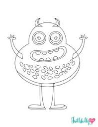 Small Picture Monster Coloring Pages Free Printables Free printable coloring