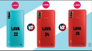 Lava Z2 vs Lava Z4 vs Lava Z6 |