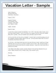 Sample Letter Denying Vacation Request Emergency Leave Basic Of For