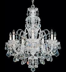schonbek 6811 40s olde world 7 light silver swarovski elements crystal chandelier undefined