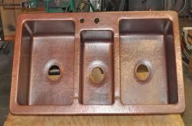 copper triple bowl kitchen sink