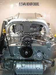 flat engine subaru boxer turbodiesel engine cutaway display