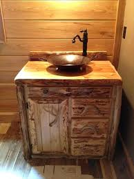 rustic bathroom sink custom rustic cedar bathroom vanity cabinet by rustic bathroom sink unit
