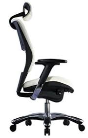 office chair genuine leather white. White Ergonomic Genuine Leather Chair By GM Seating Office