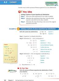 step 2 substitute the expression from step 1 into the other equation and solve for the