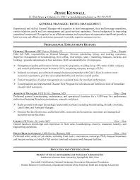 Management Resume Templates Hotel Management Resume Templates Usa Canada Job Bank