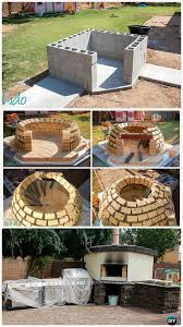 diy concrete wood fired pizza oven instructions diy outdoor pizza oven ideas projects