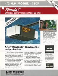 liftmaster garage door opener troubleshootingLiftmaster 1280 Garage Door Opener Manual  Garage Door Zone