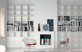 modern built in bookshelves - Google Search