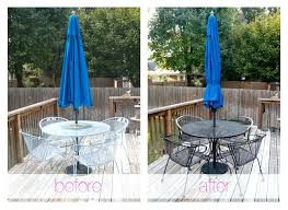 attractive spray painting metal patio furniture large