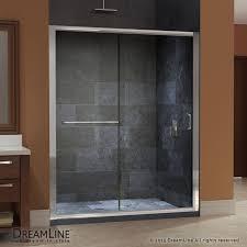 dreamline infinity z 56 to 60 frameless sliding shower door clear