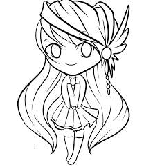 Cute Chibi Anime Coloring Pages Coloring Page Animal Coloring Page