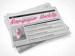 Newspaper Psd Template Download Folded Newspaper Sections Top View Psd Mockup Psd Mockups