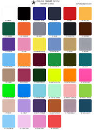 Color Chart Of Pu For Stars Heat Transfer Vinyl