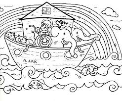Small Picture Noahs Ark Simple Drawing Ren Coloring Page Bebo Pandco