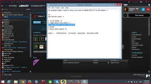 how to delete dota 2 in steam youtube