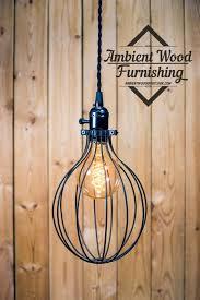 industrial lighting bare bulb light fixtures. balloon cage pendant light black switch knob socket by ambientwood industrial lightingindustrial lighting bare bulb fixtures a