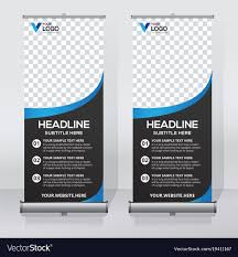 banner design template creative roll up banner design template royalty free vector
