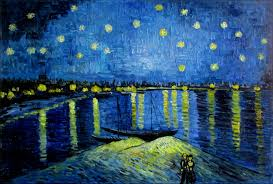 details about hand painted oil painting van gogh starry night over the rhone repro 24x36in