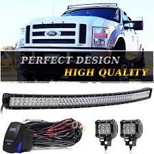 54 Inch Curved Light Bar Details About 54inch Curved Spot Flood Combo Led Light Bar Windshield Roof Fit Dodge Ram 1500