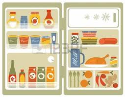 full refrigerator clipart. illustration of refrigerator with food and drinks royalty free cliparts, vectors, stock illustration. image 18175548. full clipart