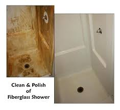 cleaning fiberglass tub articles with stains