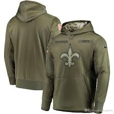 Con Salute Performance Therma Suéter Verde Sudadera Capucha Saints New To Oliva Orleans De Service