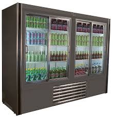 universal coolers rw8 sliding glass door reach in refrigerator 96