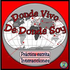 Residence And Origin Interactive Practice Chart Donde Vivo Y De Donde Soy
