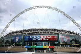 Wembley Stadium EFL branding before ...