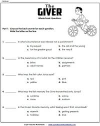 essay questions for the giver unit 2 the giver mrs salas7th 8th grade english ldquo