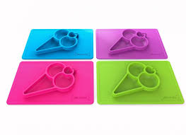 silicandy one piece silicone placemat  plate ( designs)  pupsik