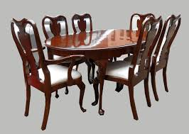 amazing collectibles queen anne style dining table 6 chairs sold table