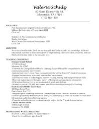 Nanny Resume Useful Resume Objective For 100 Year Old Also Nanny Resume Example 60