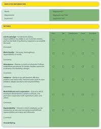 employee evaluation feedback image performance feedback template review 6 using goals and