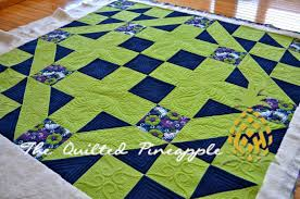 THE QUILTED PINEAPPLE: Corduroy Road & As the name of the quilt indicates, it is pieced from gorgeous corduroy.  You could easily use cotton or flannel as well, but corduroy is a dream to  quilt. Adamdwight.com