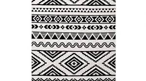 home design appealing black and white tribal rug on ivy bronx shaun geometric moroccan area