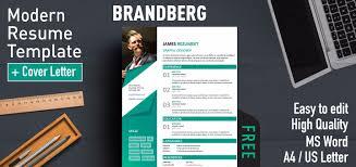 Brandberg Modern Resume Template