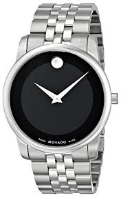 amazon com movado men s 0606504 museum stainless steel bracelet movado men s 0606504 museum stainless steel bracelet watch