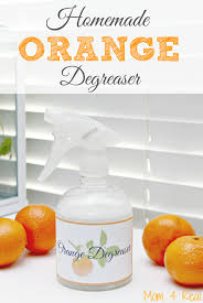 Homemade Orange Degreaser Spray Recipe - great for cleaning those touch  burnt on messes in your