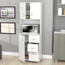 Kitchen Microwave Cabinet New Tall Kitchen Microwave Cart White Utility Cabinet Storage