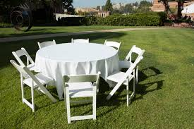 equipment al 60in round table with linen 8 chairs jpg