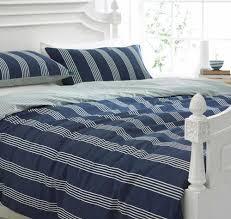 boys bedding bed linen nautical navy blue white stripe duvet navy and white striped duvet cover