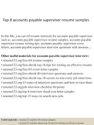 Accounts Payable Resumes Free Samples top100accountspayablesupervisorresumesamples100conversiongate100thumbnail100jpgcb=1100210055661100 66
