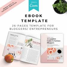 Ebook Template Boss Lady Ebook Lead Magnet Canva Template The Blog Creative
