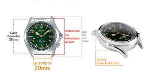 Seiko Prospex Diver Watch Cases Lug Size Dimensions