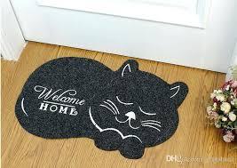 non slip rug cute cat shape welcome home floor mat anti slip floor kitchen carpet toilet non slip rug