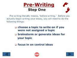 steps in writing an essay ppt  3 pre writing
